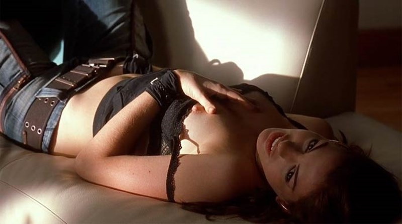 "Anne Hathaway naked, from movie ""Havoc"""